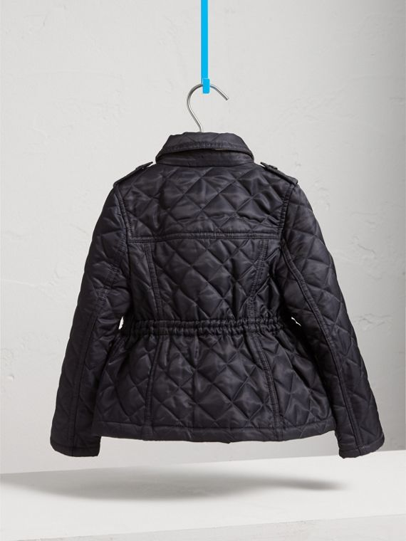 Quilted Field Jacket in Navy - Girl | Burberry - cell image 3