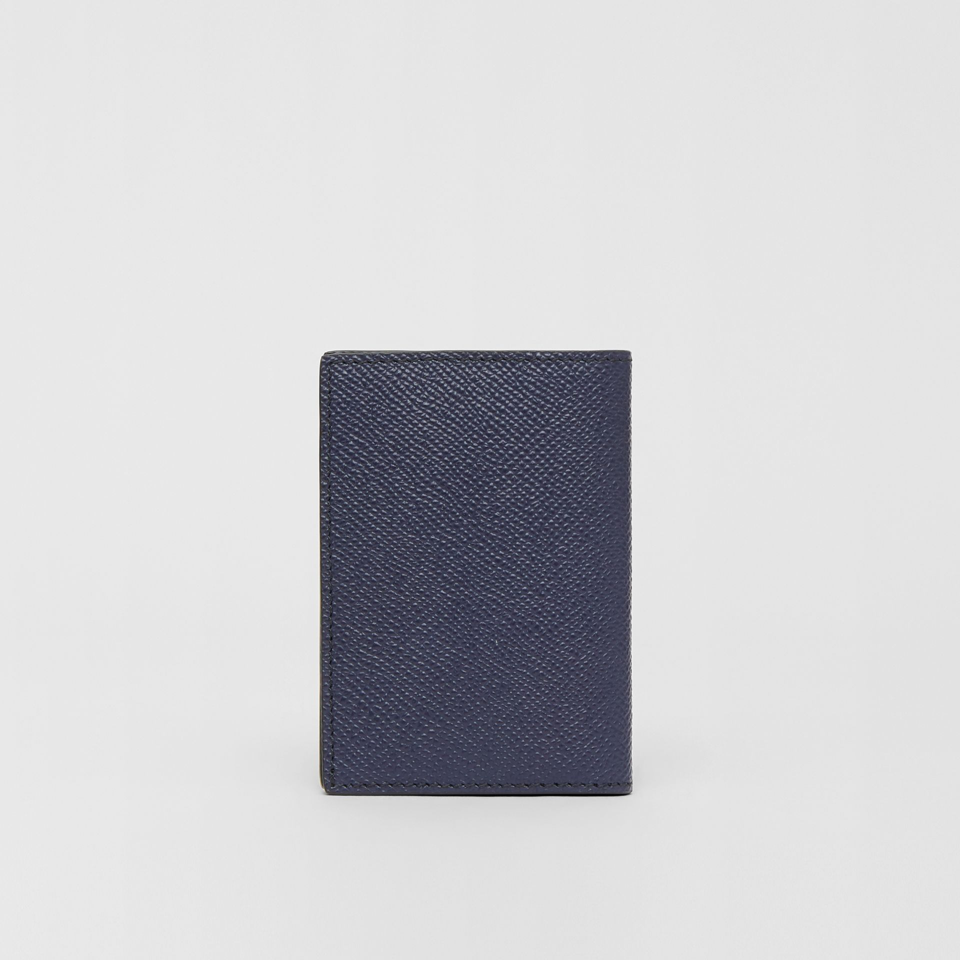 Grainy Leather Bifold Card Case in Regency Blue - Men | Burberry - gallery image 4