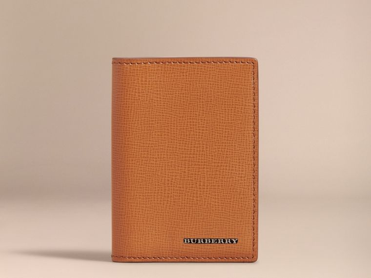 London Leather Folding Card Case in Tan - Men | Burberry Singapore - cell image 1