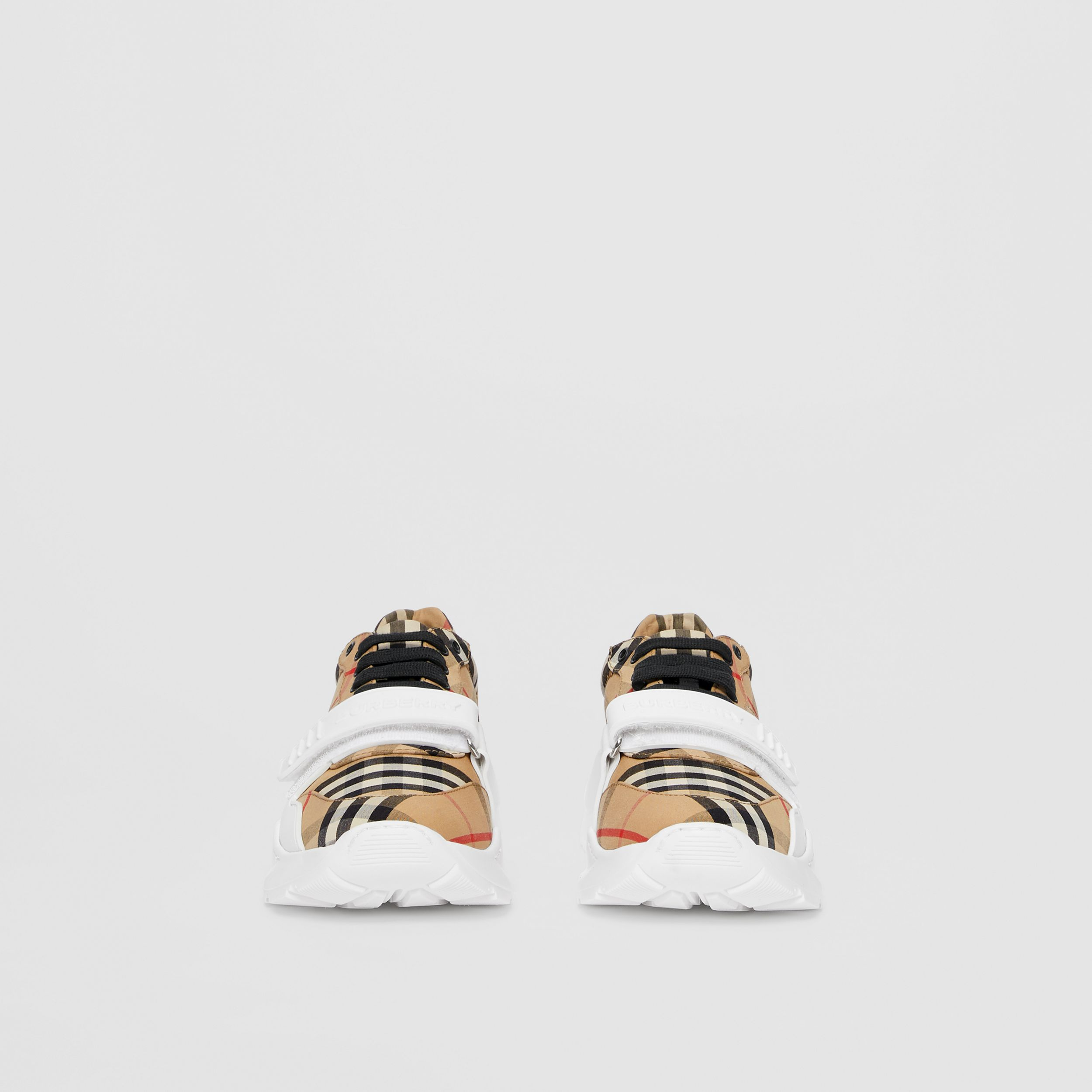 Vintage Check Cotton Sneakers in Archive Beige - Women | Burberry Australia - 4