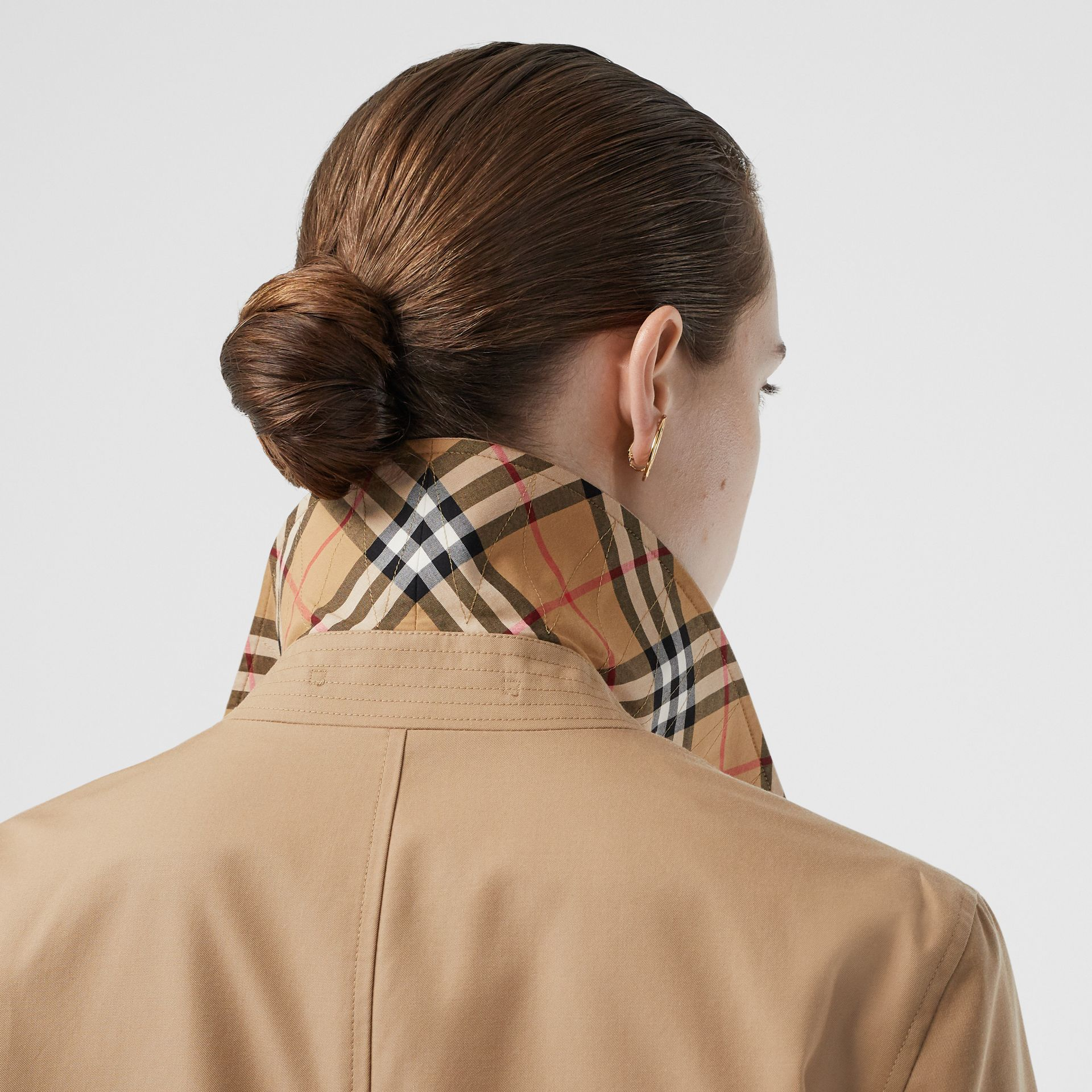 The Pimlico Heritage Car Coat in Biscuit - Women | Burberry - gallery image 4