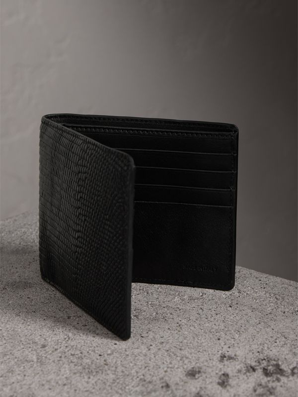 Lizard International Bifold Wallet in Black - Men | Burberry Hong Kong - cell image 3