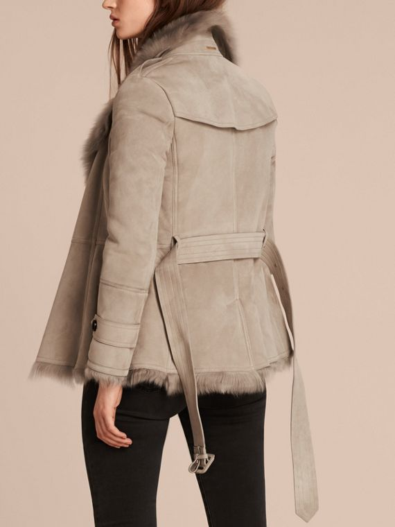 Shearling Wrap Jacket - cell image 2