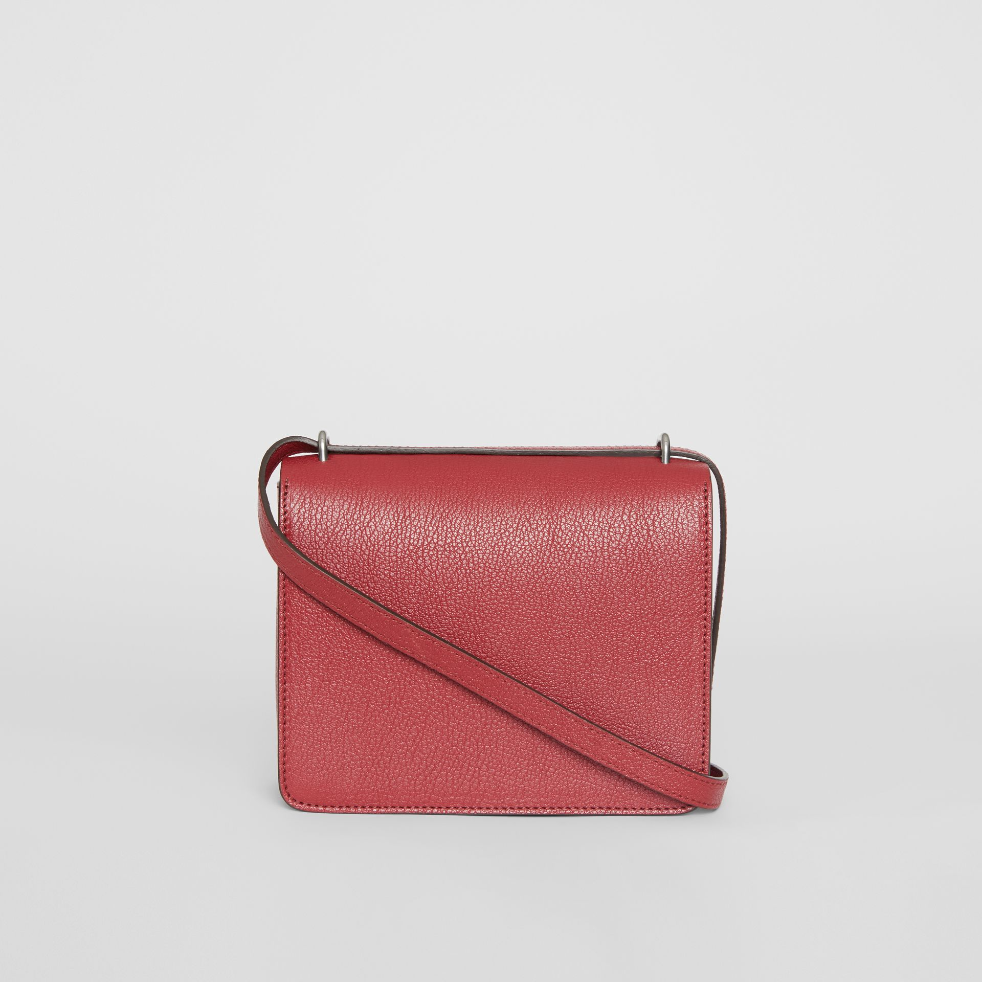 The Small Leather D-ring Bag in Crimson - Women | Burberry United Kingdom - gallery image 7