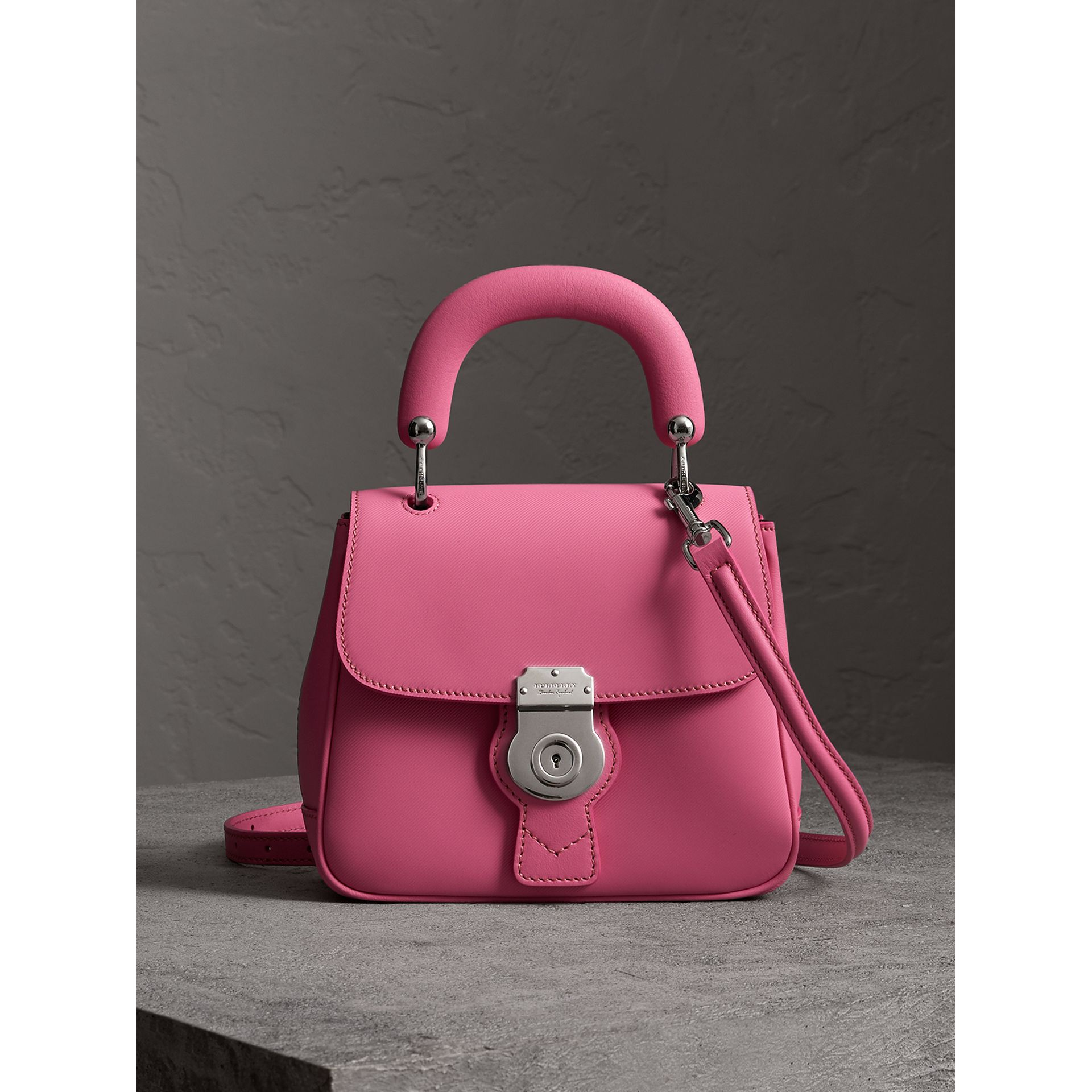 The Small DK88 Top Handle Bag in Rose Pink - Women | Burberry - gallery image 1