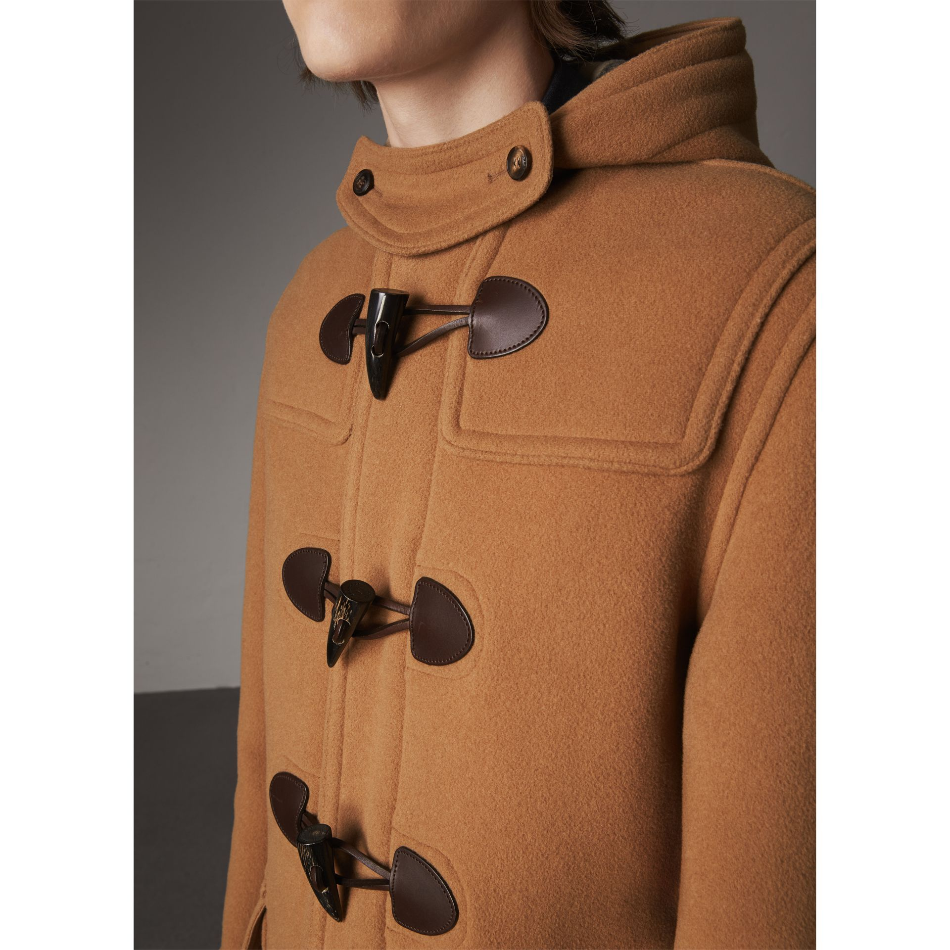 Wool-Blend Duffle Coat in Camel - Men | Burberry - gallery image 2