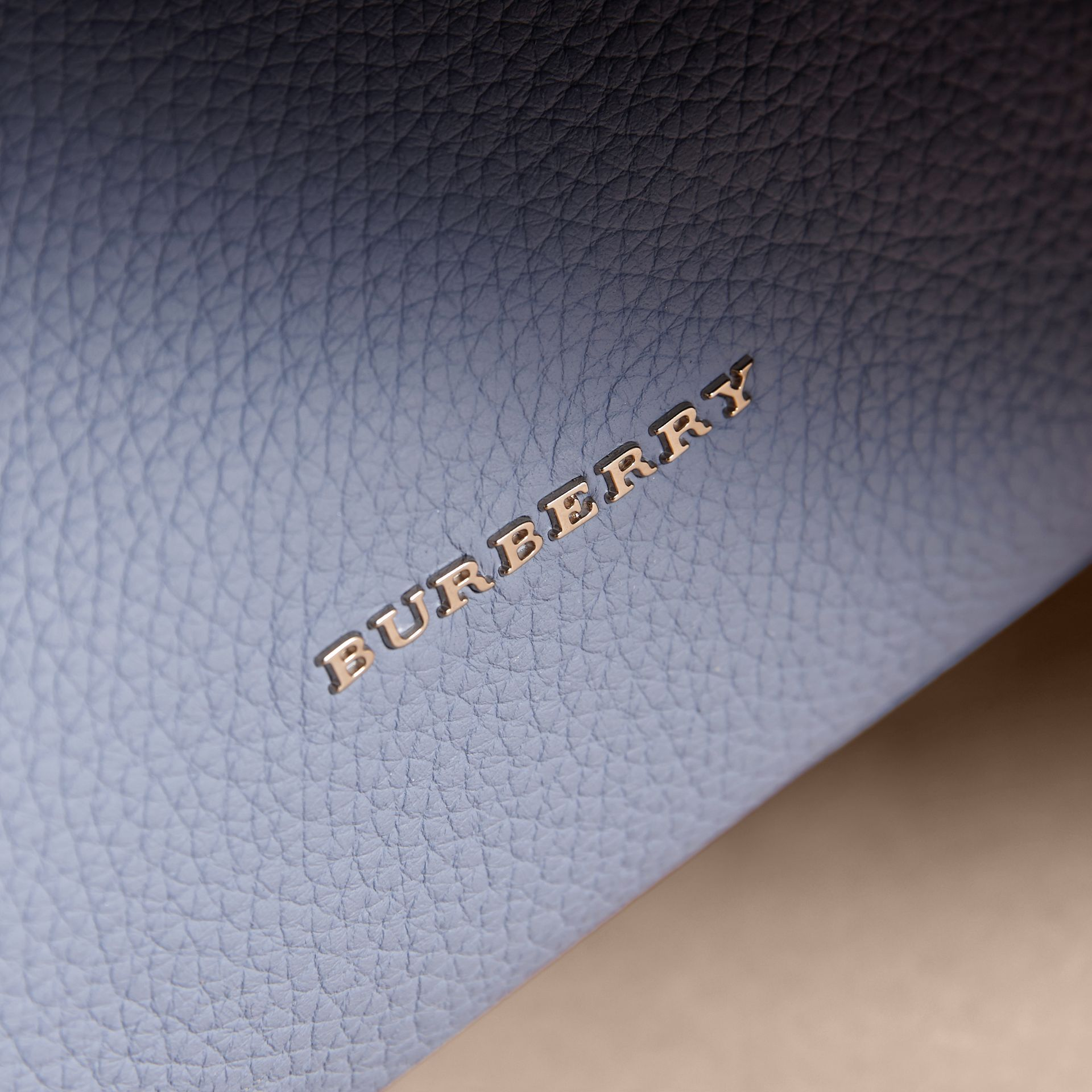 The Medium Rucksack in Deerskin with Resin Chain in Slate Blue - Women | Burberry United Kingdom - gallery image 6