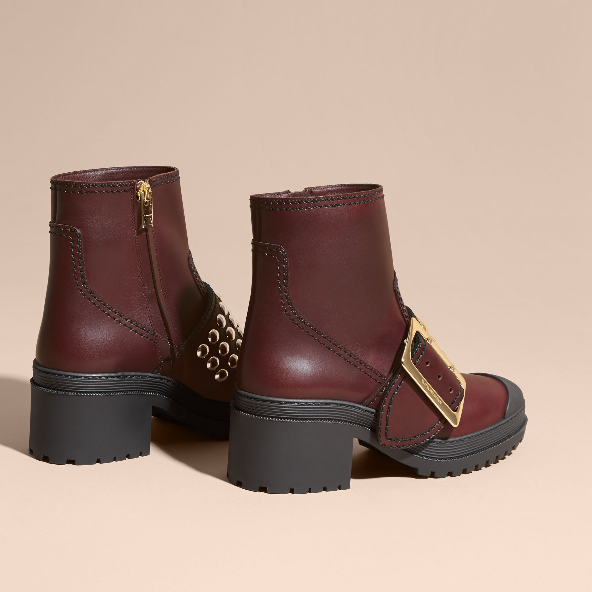 The Buckle Boot in Leather with Studs - gallery image 4