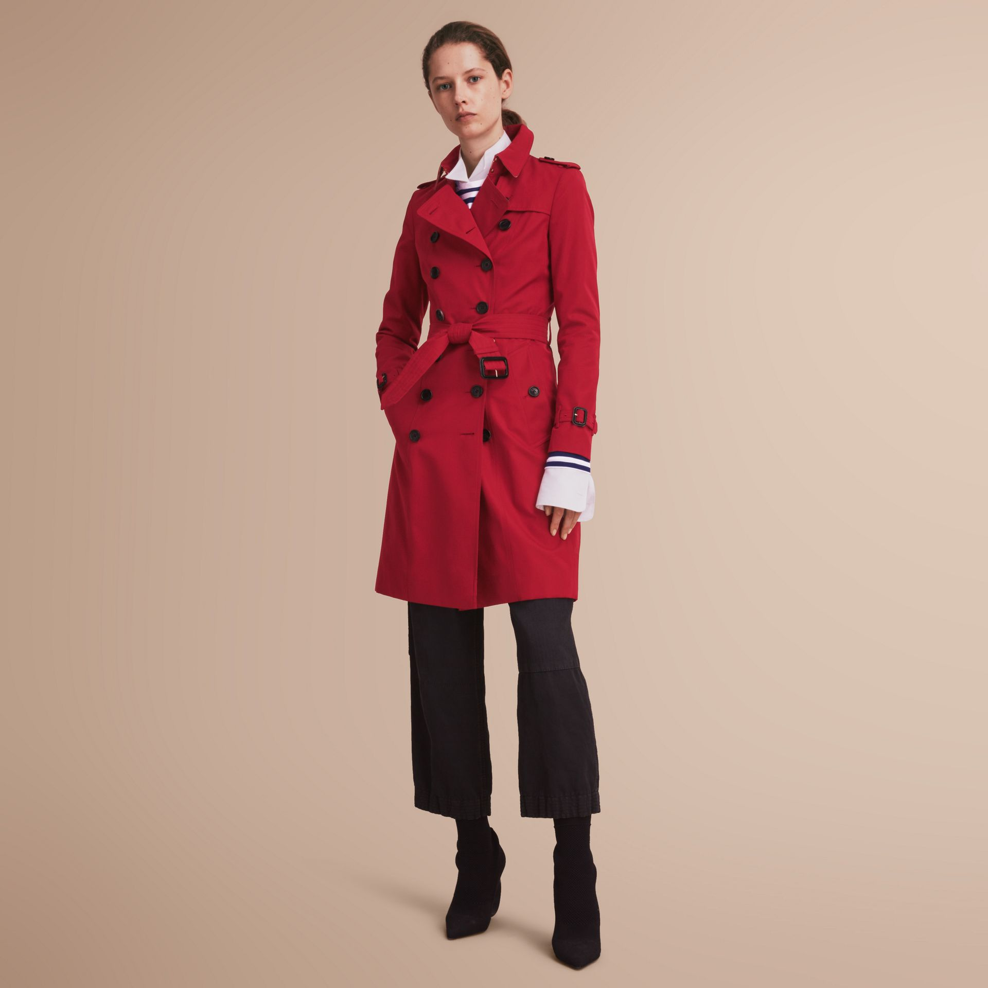 The Chelsea – Long Heritage Trench Coat in Parade Red - gallery image 1