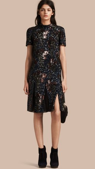 Hand-embroidered Sequin Dress