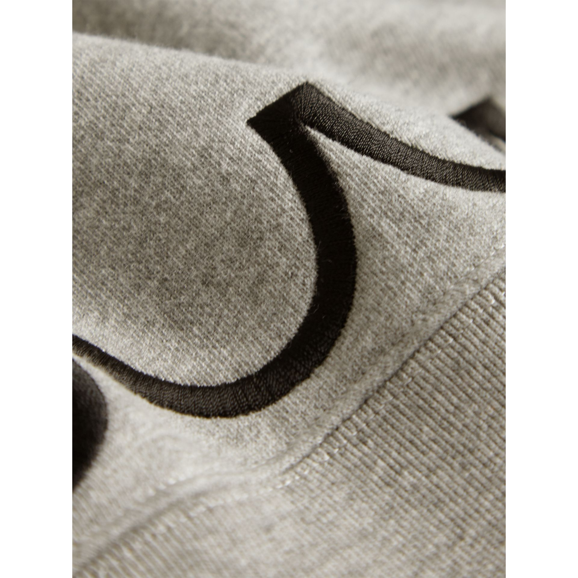 Scallop Detail Cotton Jersey Sweatshirt in Grey Melange - Girl | Burberry Singapore - gallery image 2