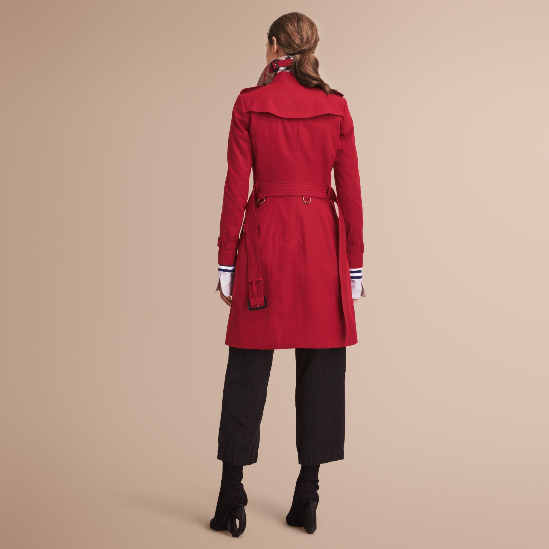 The Chelsea – Long Heritage Trench Coat in Parade Red - gallery image 3