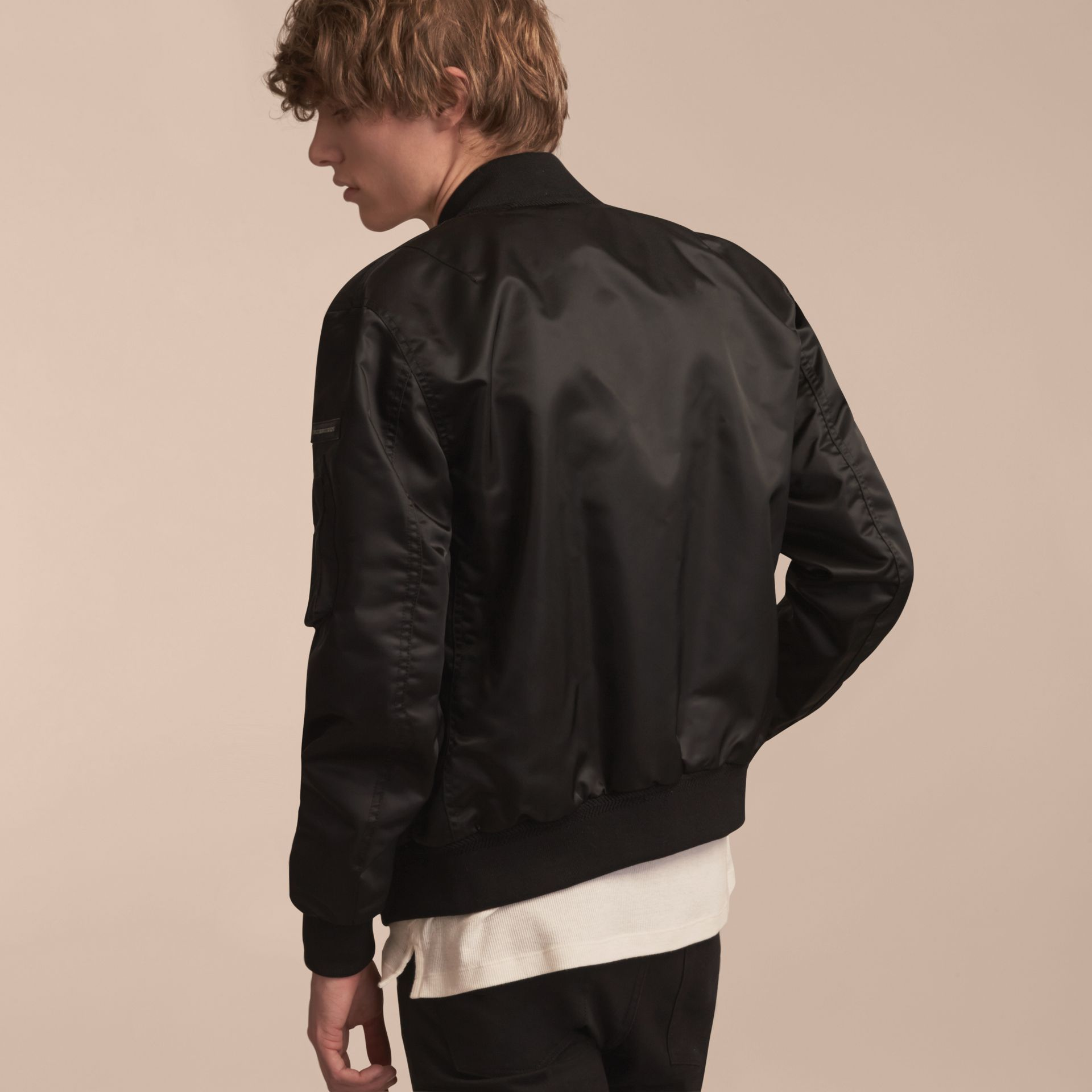 Technical Bomber Jacket Black - gallery image 3