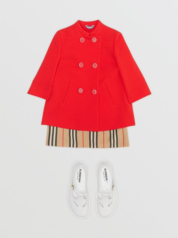 Crepe Jersey Swing Coat in Bright Red - Children | Burberry - cell image 2
