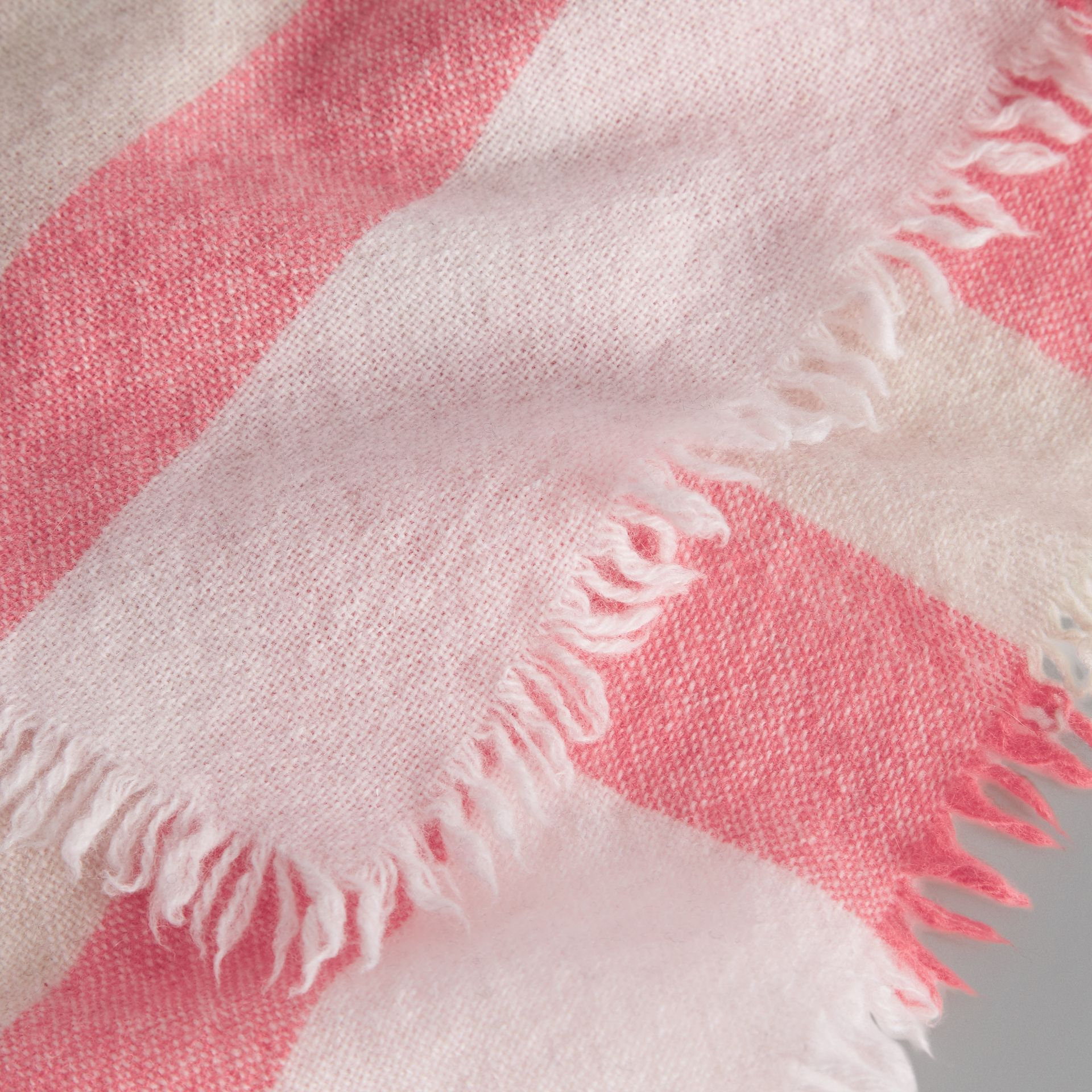 Lightweight Check Wool and Cashmere Scarf in Pale Blossom - Children | Burberry - gallery image 1