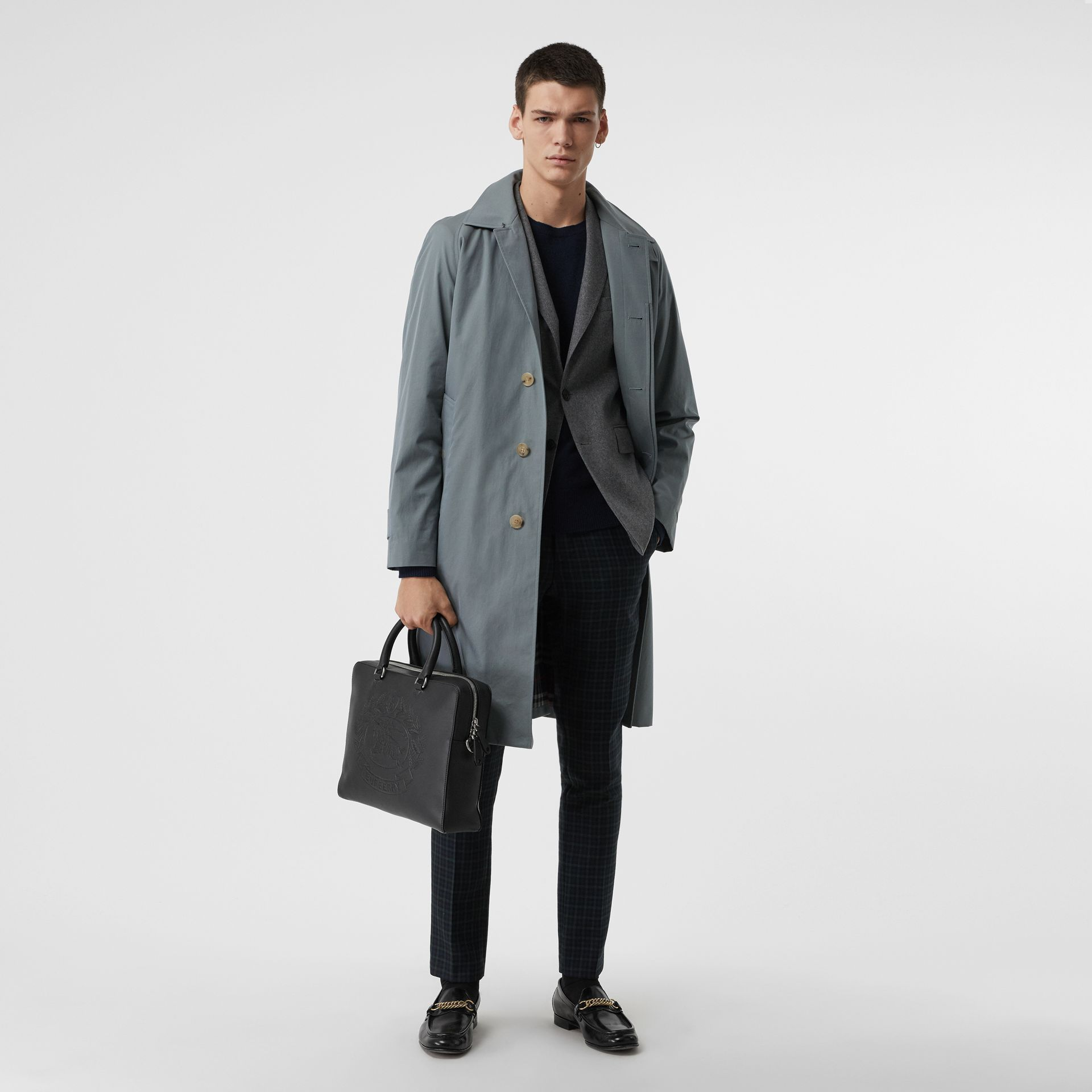 Attaché-case en cuir avec écusson estampé (Noir) - Homme | Burberry Canada - photo de la galerie 2