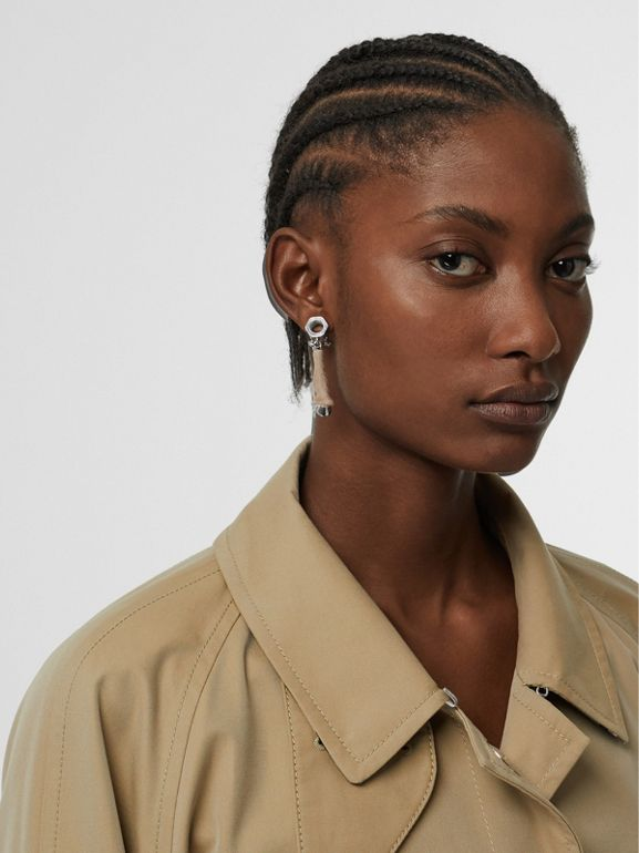 Exaggerated Cuff Cotton Gabardine Car Coat in Pale Honey - Women | Burberry Australia - cell image 1