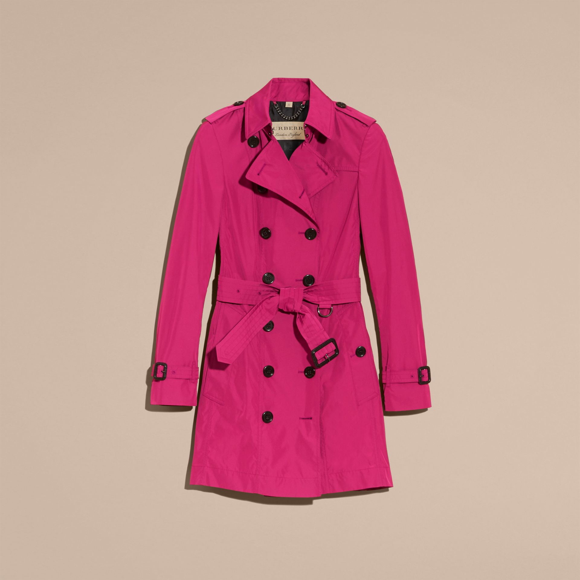 Mid-length Technical Trench Coat Damson Magenta - gallery image 4