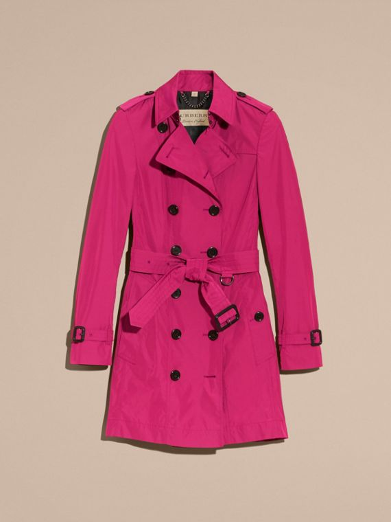 Mid-length Technical Trench Coat Damson Magenta - cell image 3