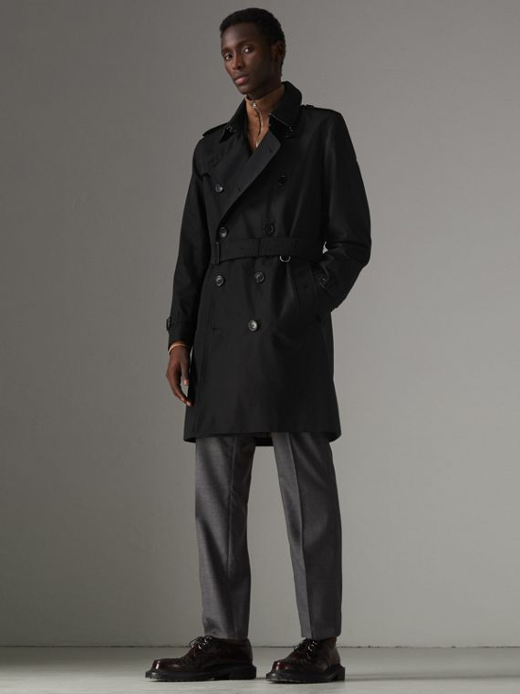 Heritage-Trenchcoat in Kensington-Passform (Schwarz)