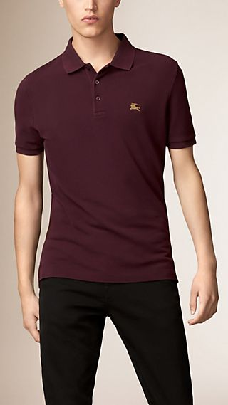 Cotton Piqué Double Dyed Polo Shirt