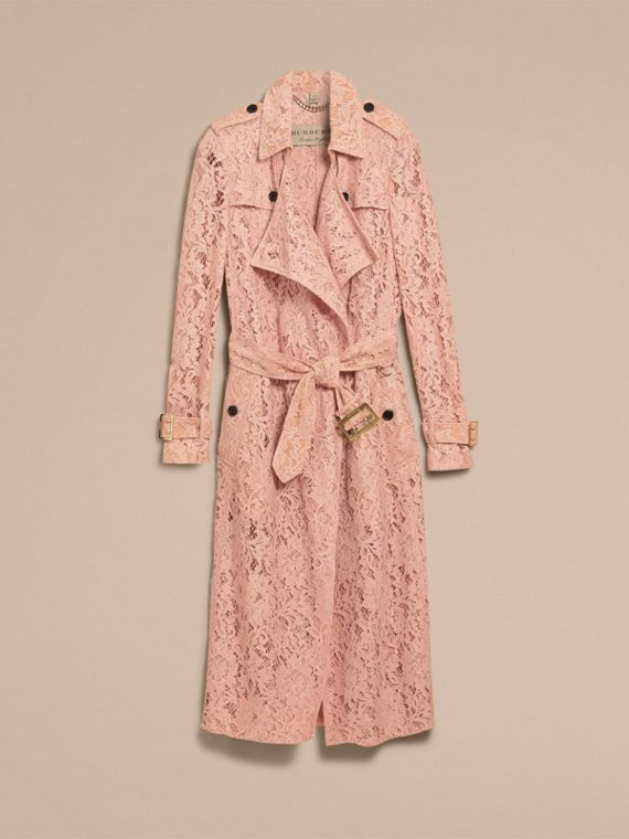 Macramé Lace Trench Coat Pale Pink - cell image 2