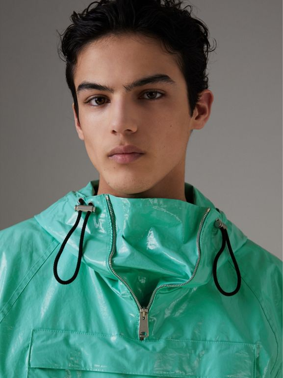 Laminated Cotton Anorak in Aqua Blue - Men | Burberry - cell image 1