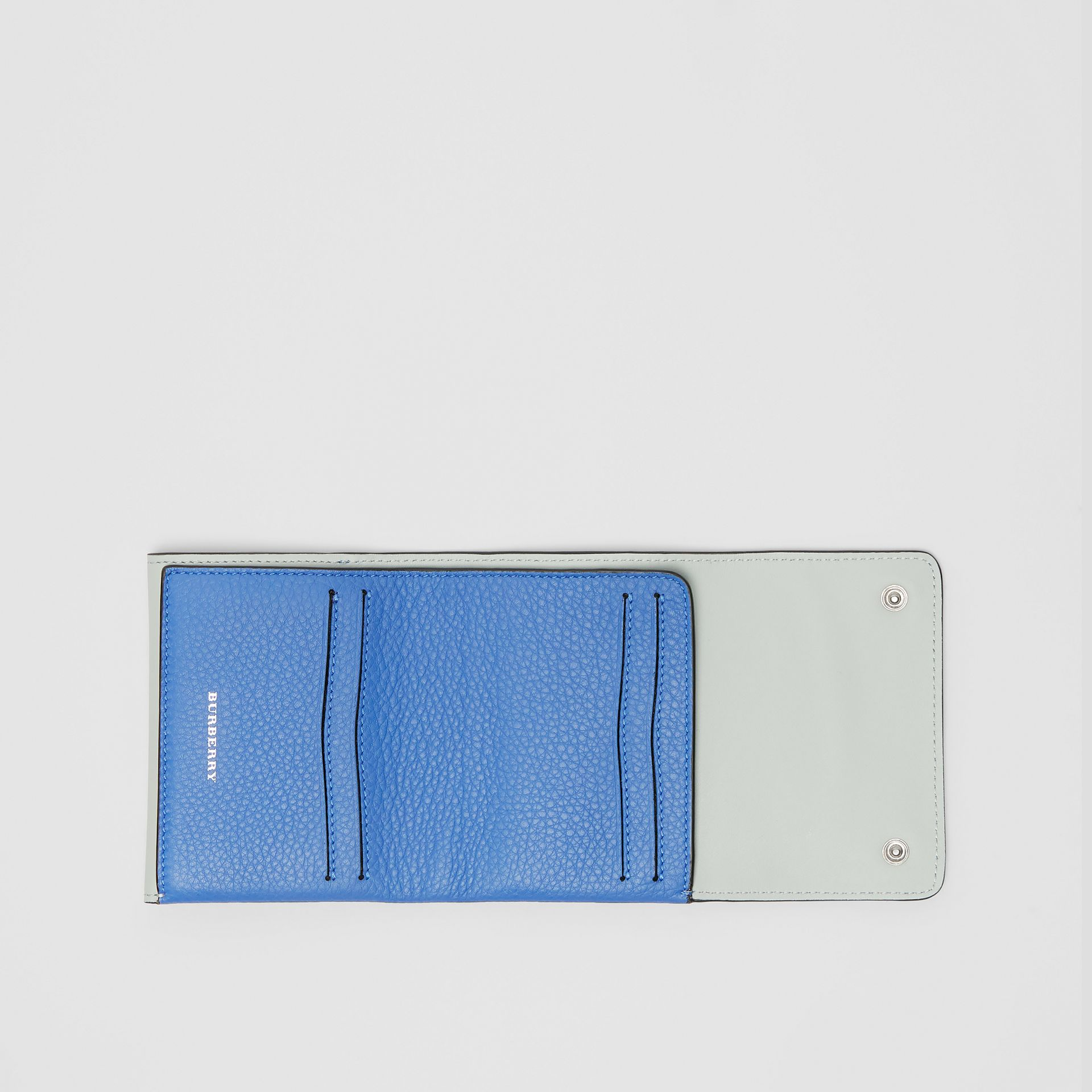 Small Leather Folding Wallet in Hydrangea Blue - Women | Burberry - gallery image 2
