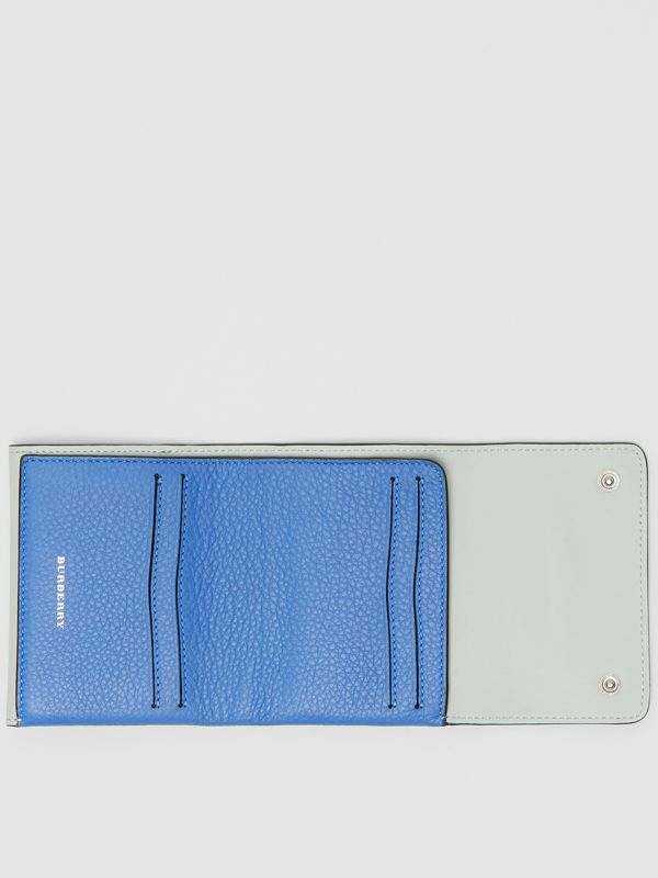 Small Leather Folding Wallet in Hydrangea Blue - Women | Burberry - cell image 2