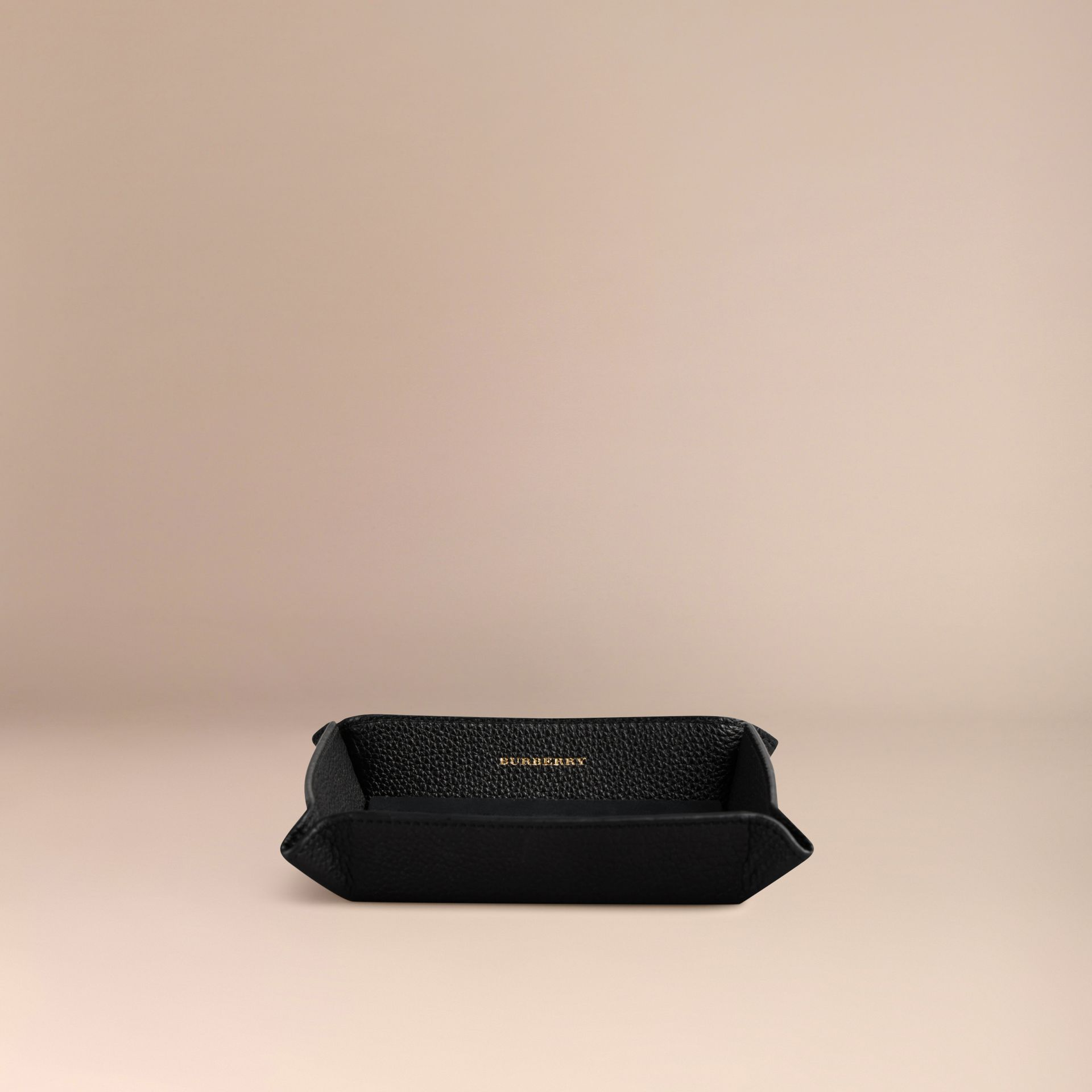 Black Grainy Leather Valet Tray Black - gallery image 3