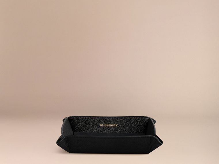 Black Grainy Leather Valet Tray Black - cell image 2