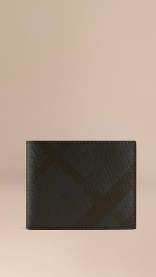London Check Folding Wallet