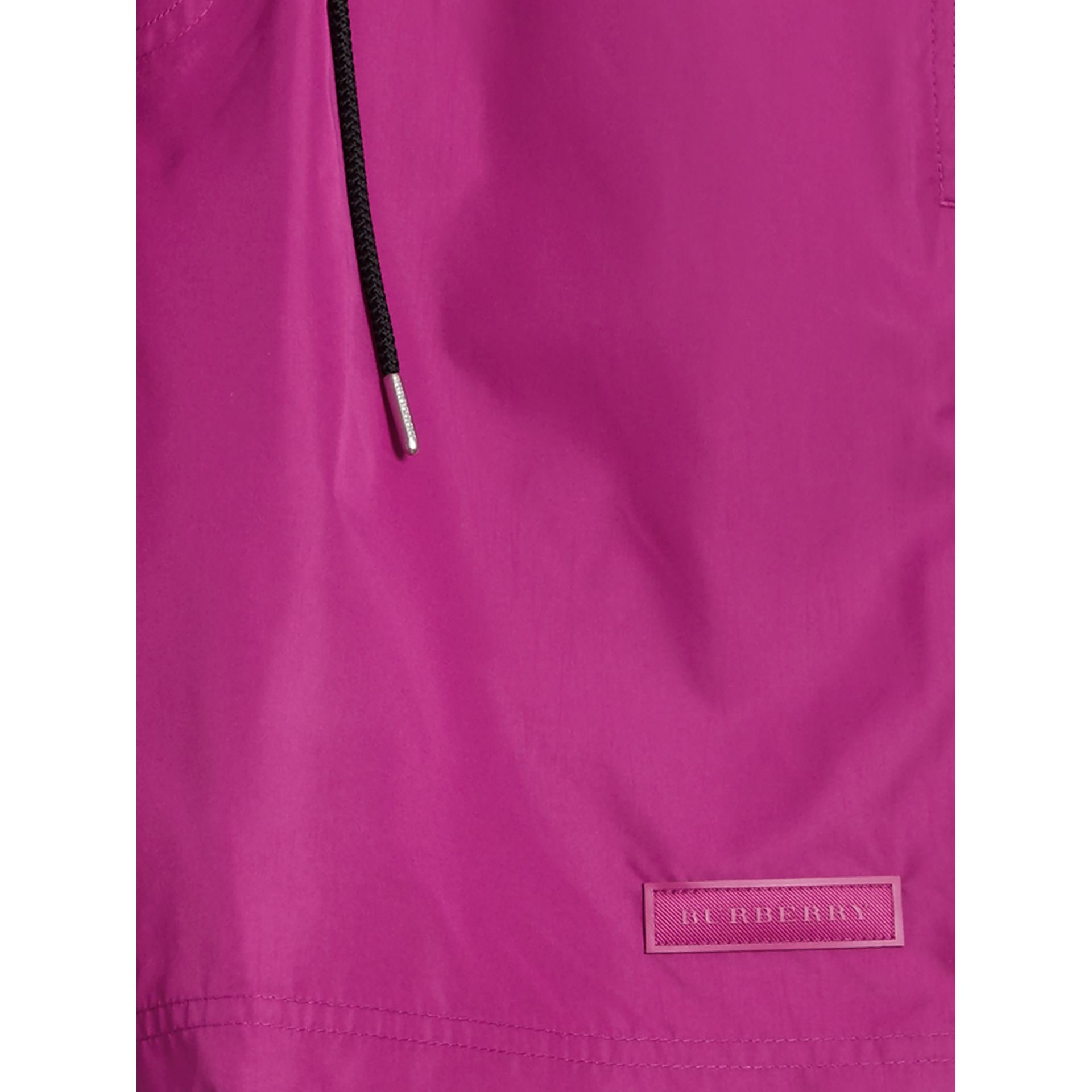 Drawcord Swim Shorts in Bright Fuchsia - Men | Burberry - gallery image 2