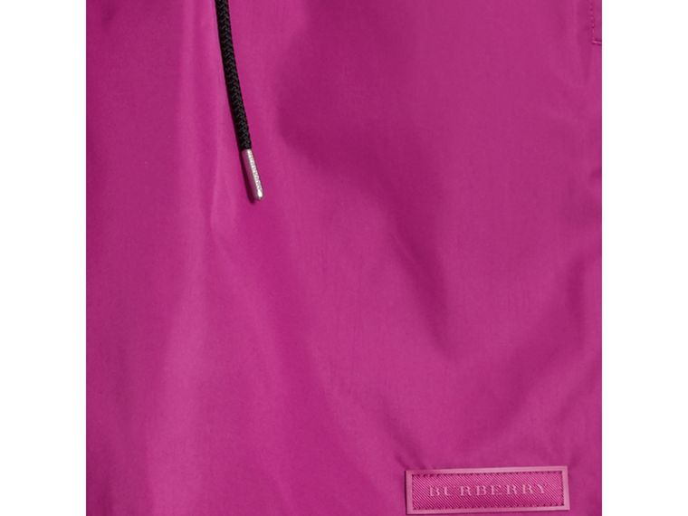 Drawcord Swim Shorts in Bright Fuchsia - Men | Burberry - cell image 1