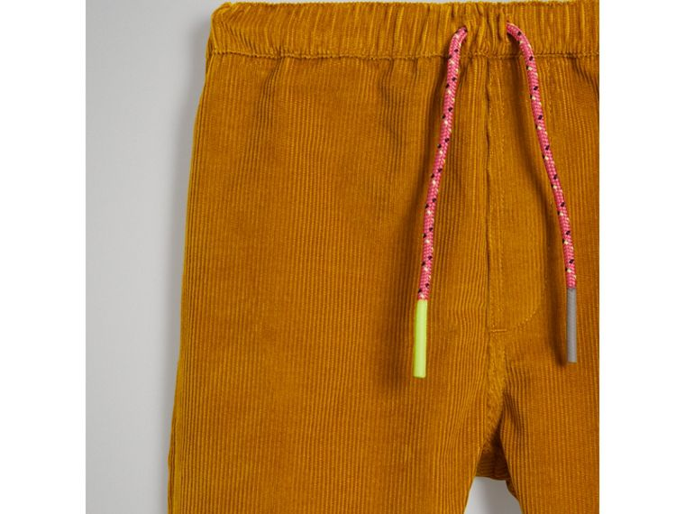Corduroy Drawcord Trousers in Ochre | Burberry - cell image 4