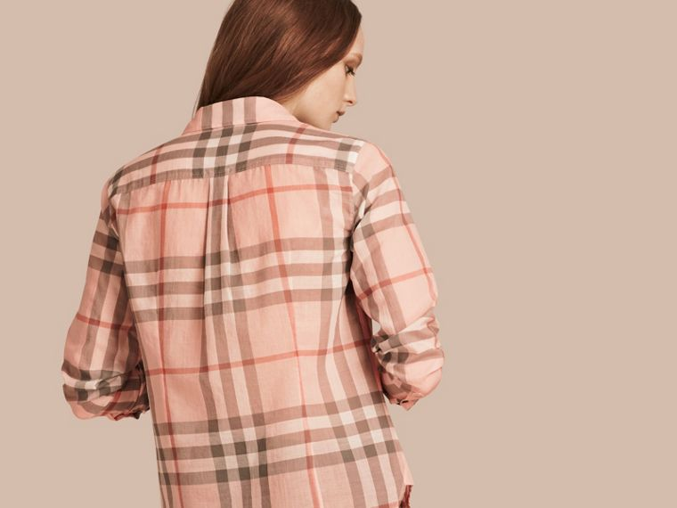 Pale apricot Check Cotton Shirt Pale Apricot - cell image 2