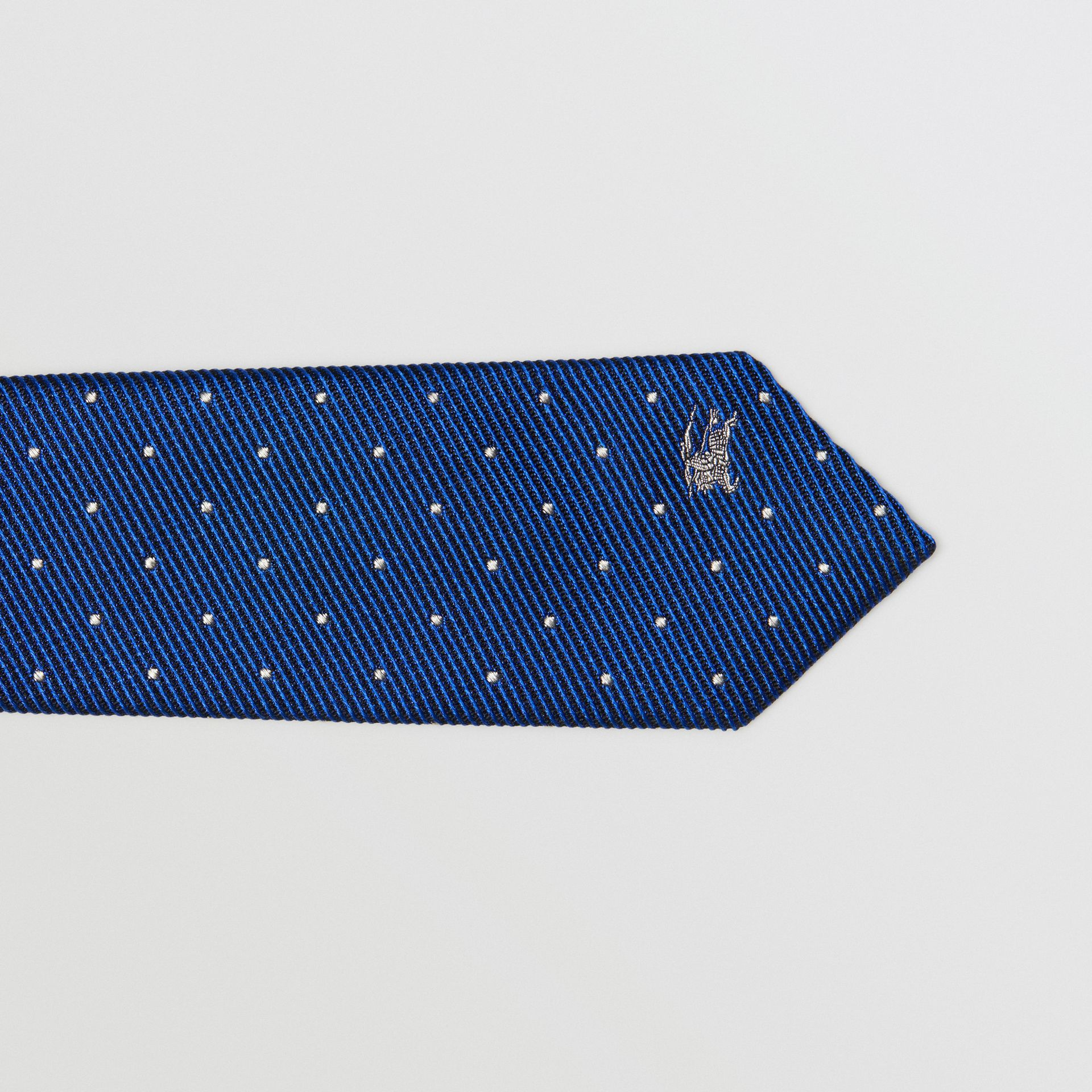 Modern Cut Pin Dot Silk Tie in Azure Blue - Men | Burberry - gallery image 1