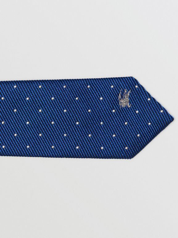 Modern Cut Pin Dot Silk Tie in Azure Blue - Men | Burberry - cell image 1