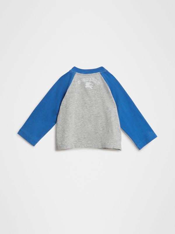 Thomas Bear Raglan-sleeve Cotton Top in Grey Melange - Children | Burberry Singapore - cell image 3