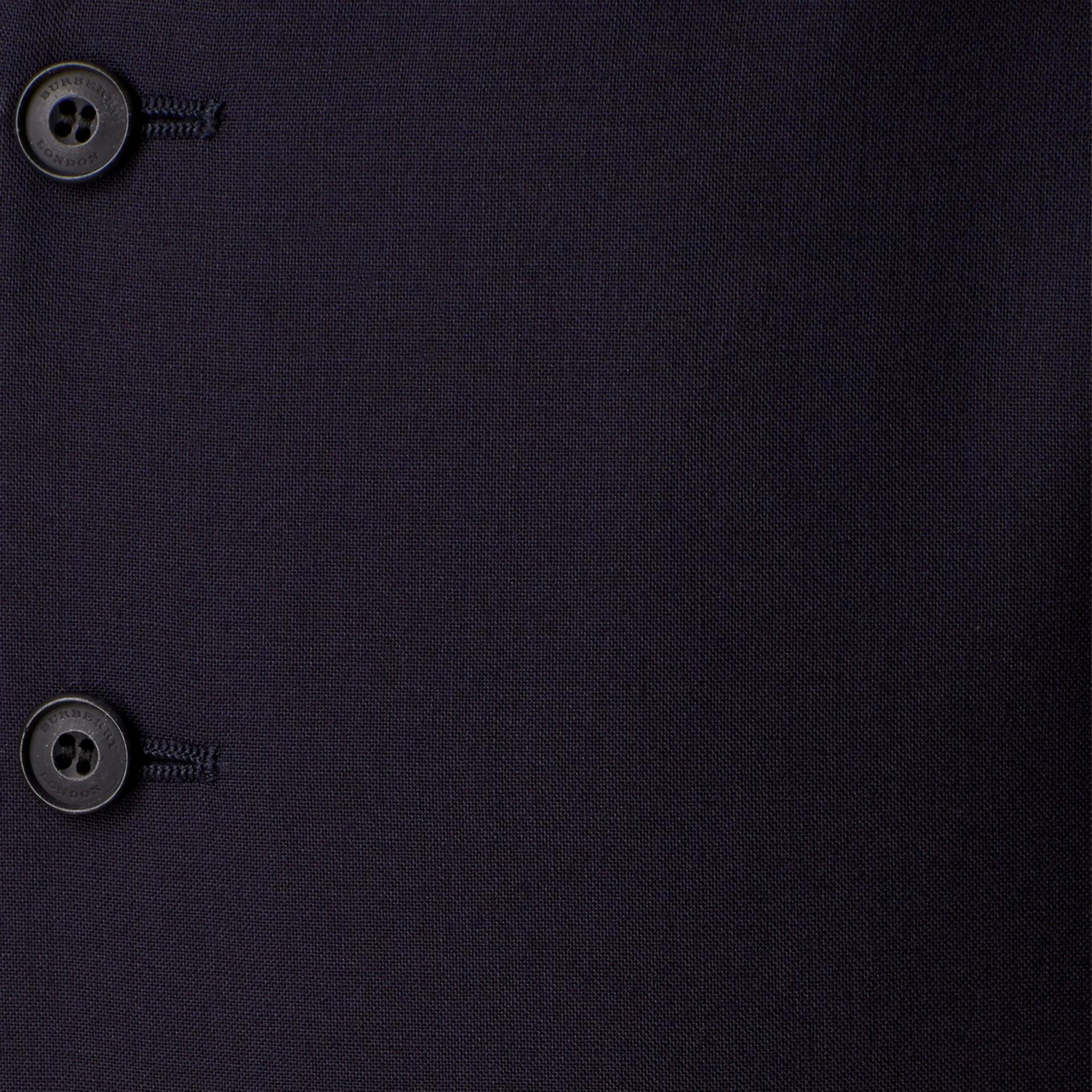 Marineblau Körperbetonter Waistcoat aus Wolle - Galerie-Bild 2