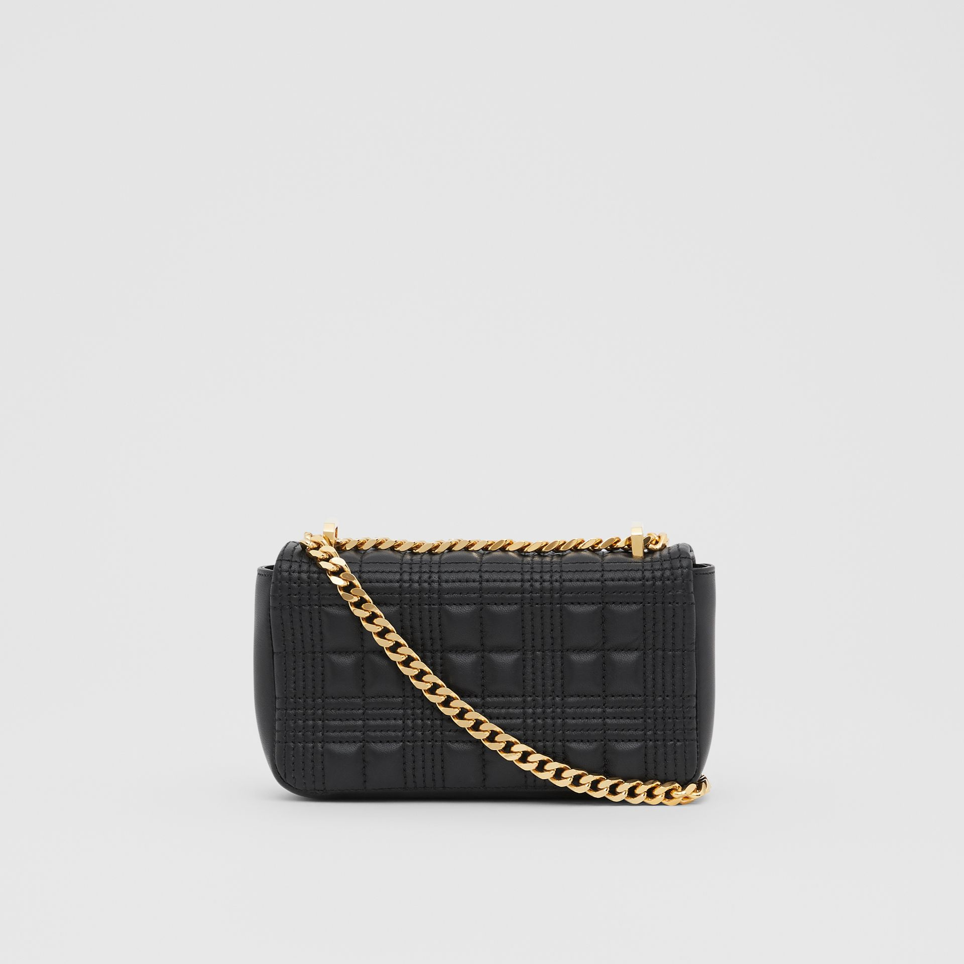 Mini Quilted Lambskin Lola Bag in Black - Women | Burberry - gallery image 5