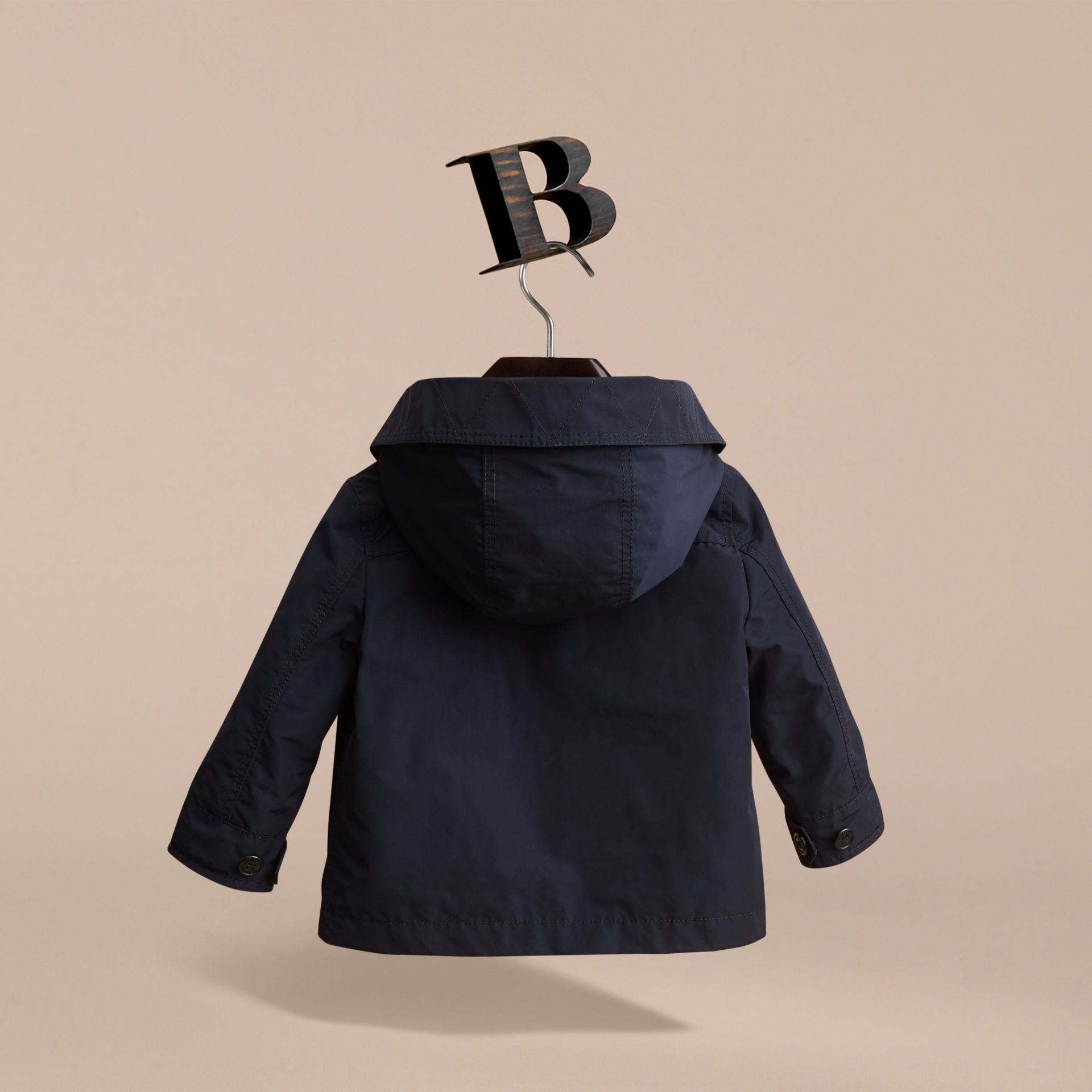 Hooded Field Jacket in Ink | Burberry - gallery image 4