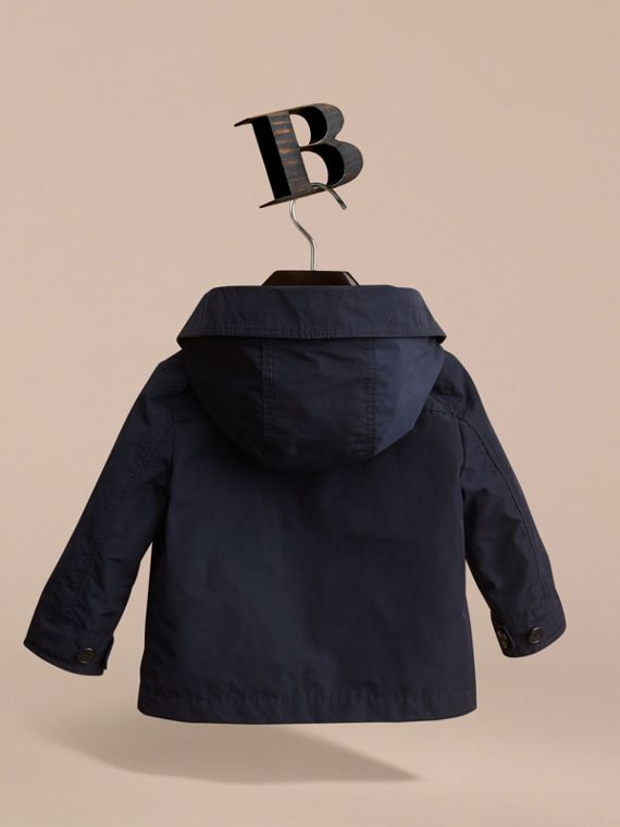 Hooded Field Jacket in Ink | Burberry United Kingdom - cell image 3