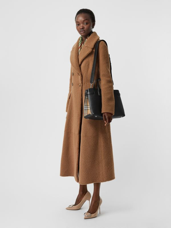 The Medium Banner in Leather and Vintage Check in Black - Women | Burberry - cell image 2
