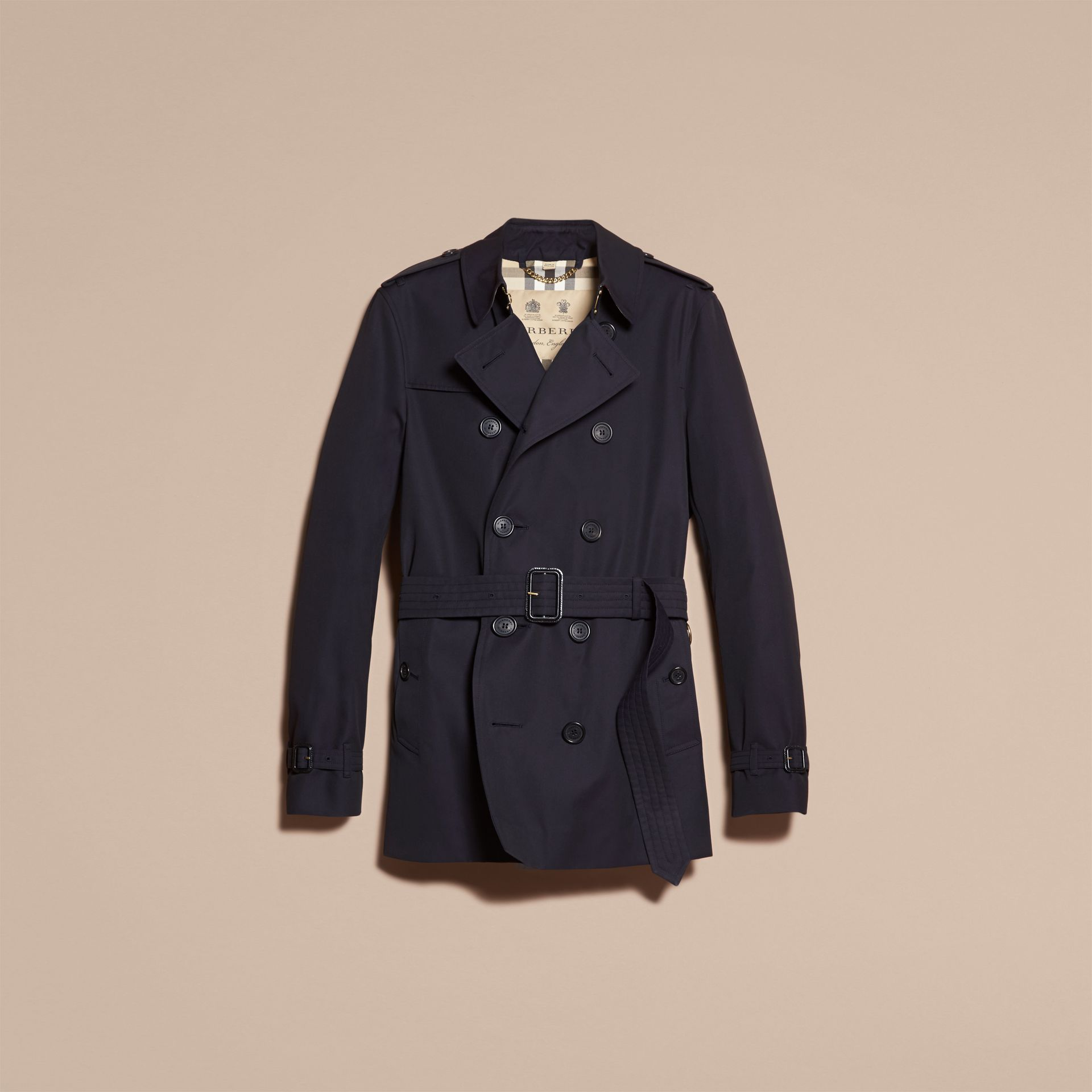 Navy The Chelsea – Short Heritage Trench Coat Navy - gallery image 4