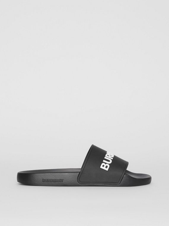Kingdom Motif Slides in Black/optic White