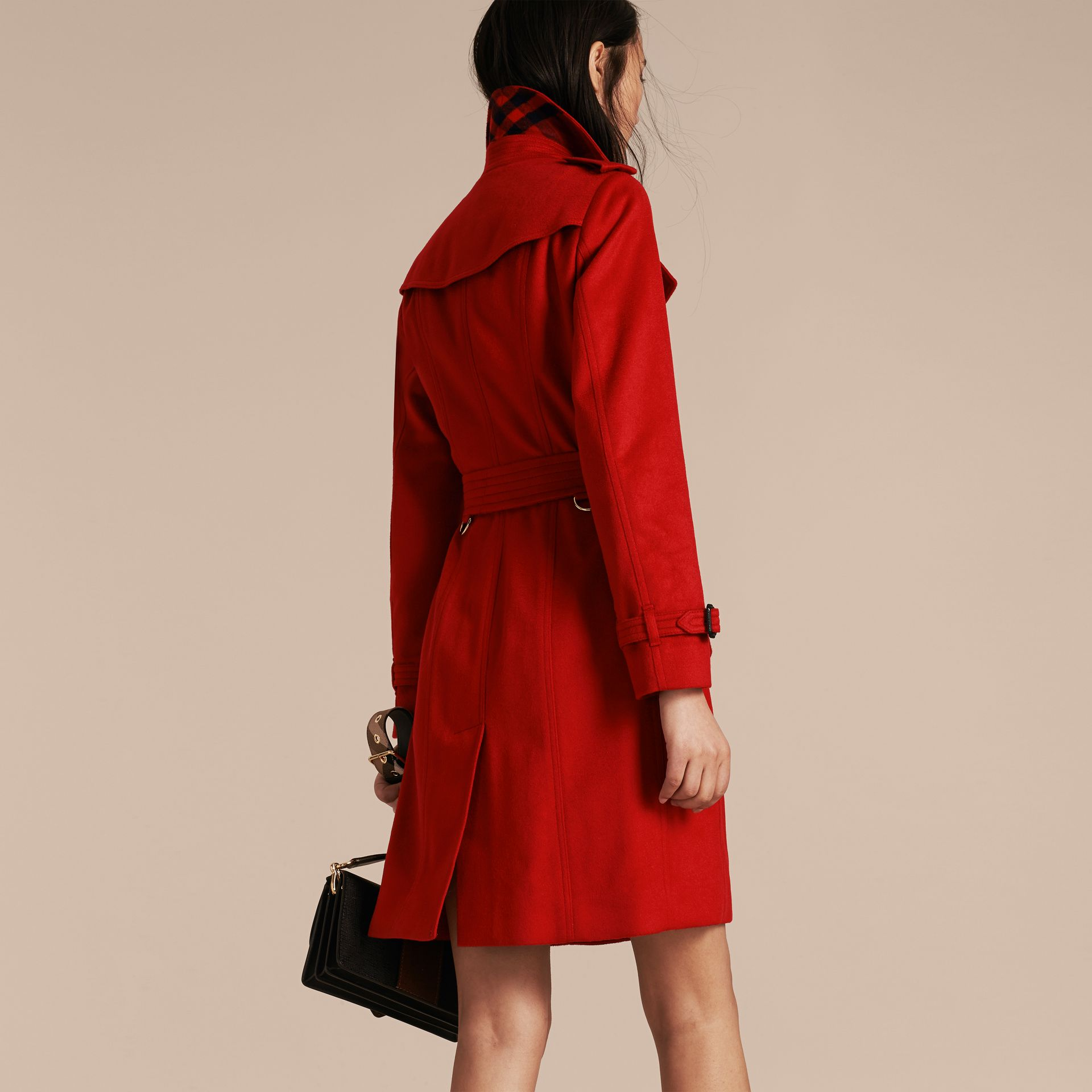 Sandringham Fit Cashmere Trench Coat in Parade Red - gallery image 3