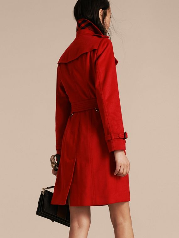 Sandringham Fit Cashmere Trench Coat in Parade Red - cell image 2