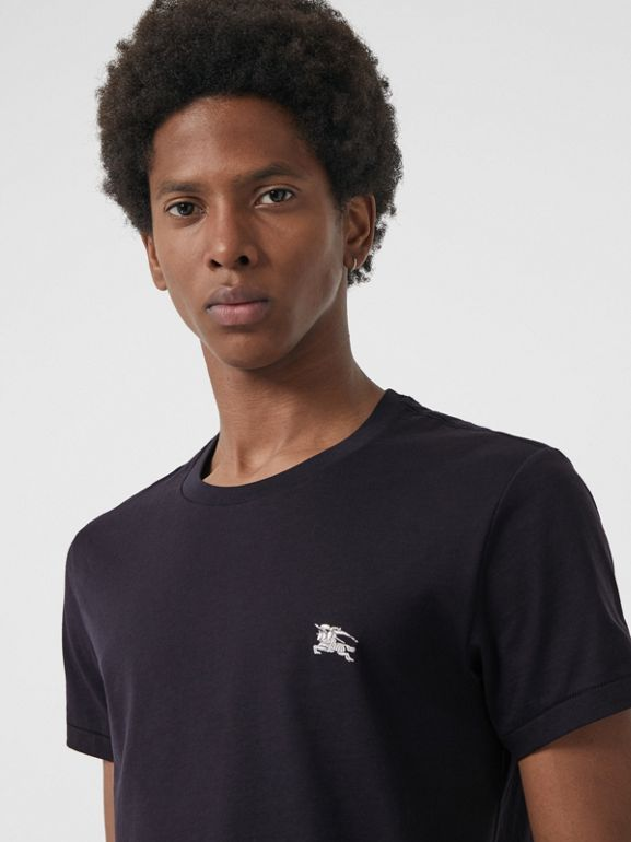 Cotton Jersey T-shirt in Navy - Men | Burberry United States - cell image 1