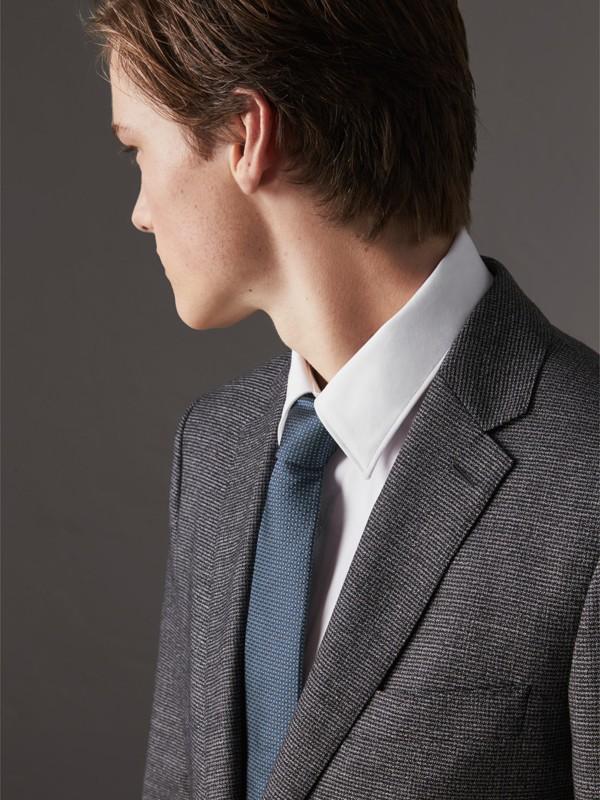 Modern Cut Patterned Silk Tie in Light Blue - Men | Burberry United Kingdom - cell image 2